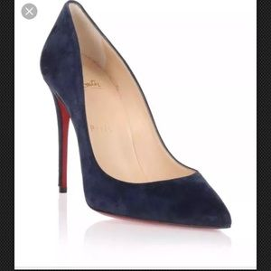 CHRISTIAN LOUBOUTIN pigalle follies navy size 40.5